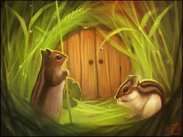 Chipmunks by GaudiBuendia