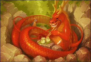 Chinese dragon by GaudiBuendia