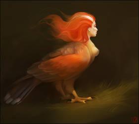 Sirin, Bird Of Paradise by GaudiBuendia