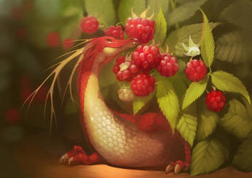 Raspberry dragon by GaudiBuendia