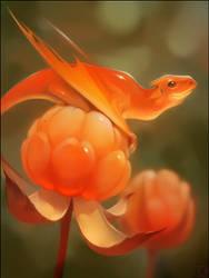 Cloudberry dragon by GaudiBuendia