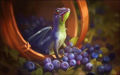 Blueberry dragon by GaudiBuendia