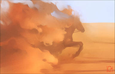 Desert phantom (fast sketch) by GaudiBuendia