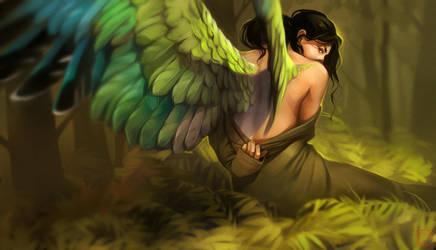 Green wings by GaudiBuendia