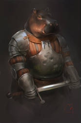 old knight by GaudiBuendia