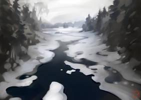 winter sketch by GaudiBuendia