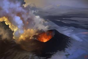 Volcano by GaudiBuendia