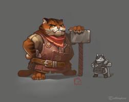 cat-blacksmith by GaudiBuendia