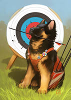 archer's dog by GaudiBuendia