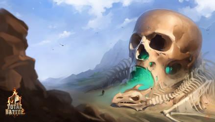skull dungeon by GaudiBuendia