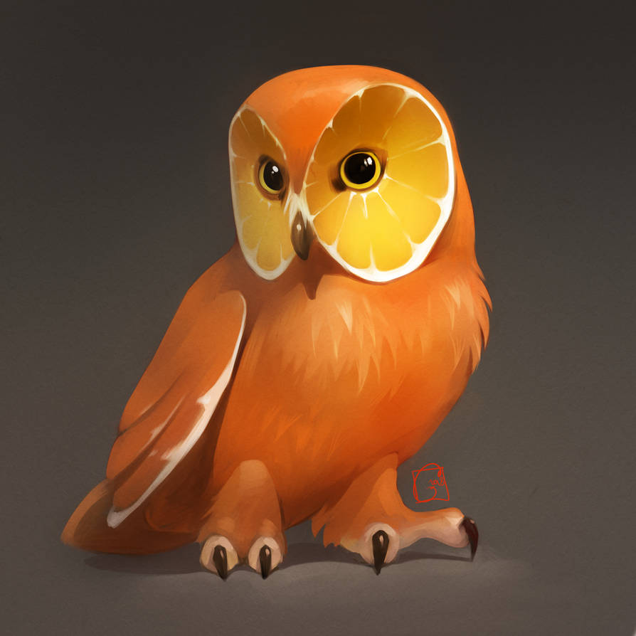 orange owl by GaudiBuendia