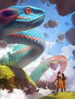 rainbow serpent by GaudiBuendia