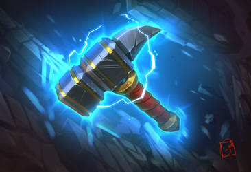dwarf hammer by GaudiBuendia