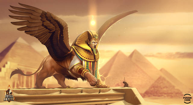 sphinx. winged eternity by GaudiBuendia