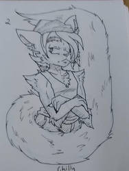 Inktober day two. Chilly by Candy-waterfalls