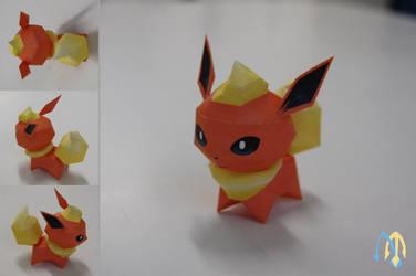 Flareon Chibi  Papercraft by aquametal