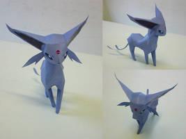Espeon mini papercraft by aquametal