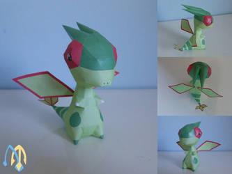 Flygon chibi papercraft by aquametal
