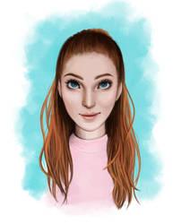 Portrait Color Study by AlexandraTirado