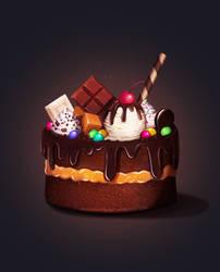 Candy Cake by AlexandraTirado