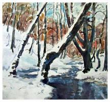 Winter landscape by paintertk