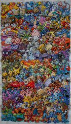 Finished Epic Pokemon Cross Stitch by sfxbecks