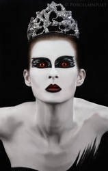 Dark Swan III by PorcelainPoet