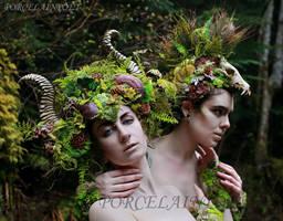 Forest Fauns by PorcelainPoet