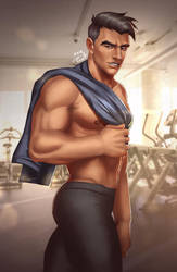 Craig at the Gym by Crestren
