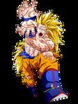 Goku SSJ3 firing Kamehameha blast by Goku-Kakarot