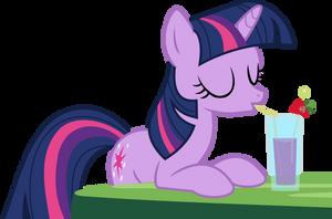 Drinking Twilight Sparkle Vector by Kamyk962