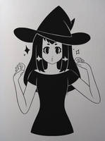 Inktober: Witch by AsterianMonarch