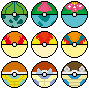 Kanto Starters Pokeballs by AsterianMonarch
