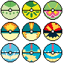 Johto Starters Pokeballs by AsterianMonarch