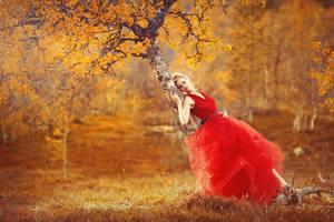 Lady in red II by JenniSjoberg