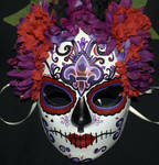Belly dancer's Sugar Skull Mask 4 by LilBittyFish