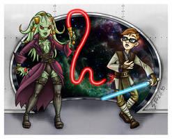 Darth Bu'Dwar vs Jedi Poindxtr by Shannanigan
