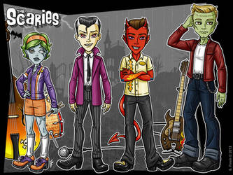 The Scaries - Band Lineup by Shannanigan