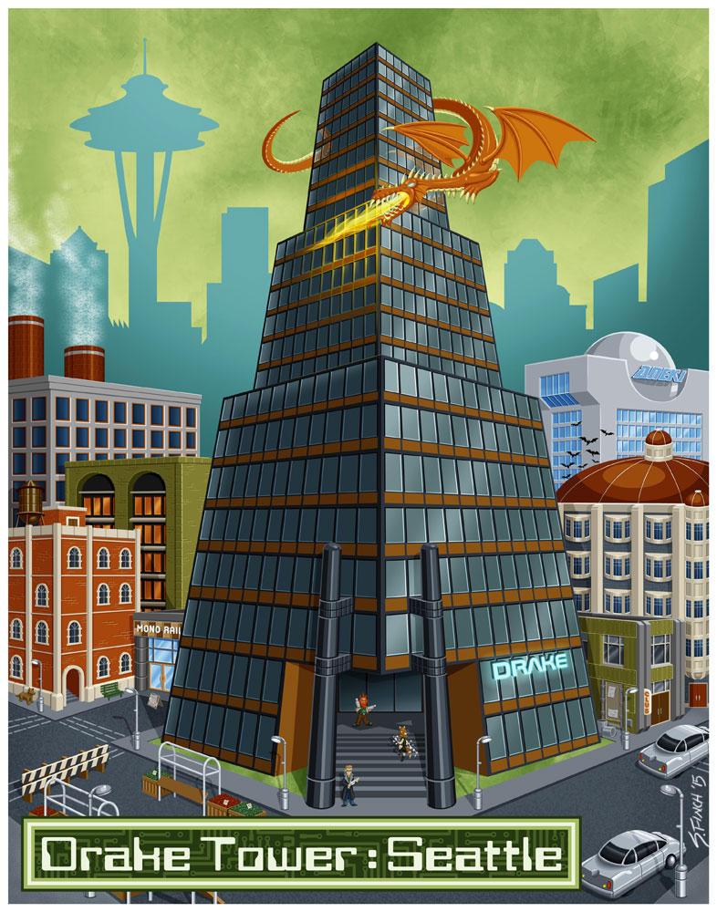 G88 - Drake Tower : Seattle by Shannanigan