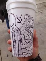 Slendy on a cup again by randomdrawerchic
