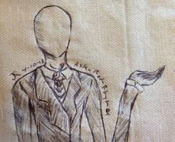 Slendy on a napkin by randomdrawerchic