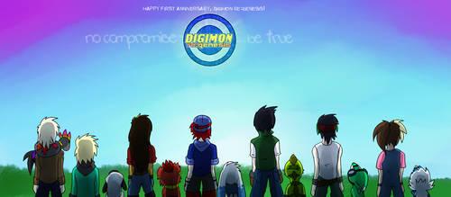Happy 1st Birthday, Digimon re:GENESIS! by glitchgoat