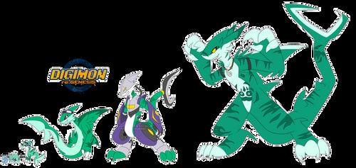 [digimon re:GEN] Delfinimon Revamp by glitchgoat