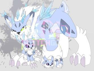 [c] Icy-cold Lynx Digimon by glitchgoat