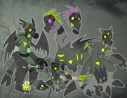 [t] Hazmat Digimon by glitchgoat