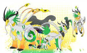 [c] Qilin Digimon by glitchgoat