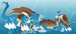 [c] Sea Turtle Digimon by glitchgoat