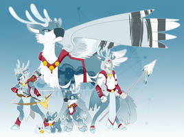 [c] Icy Reindeer Digimon by glitchgoat