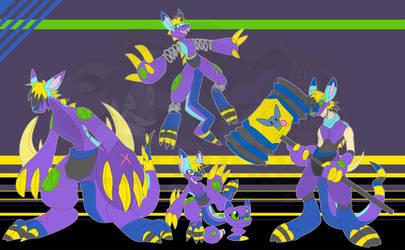 [c] Plush Kangaroo Digimon by glitchgoat