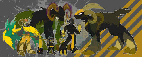 [c] Digimon With the Golden Fleece by glitchgoat